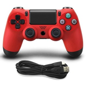 PS4: Wired Game Controller for Sony PS4(Red)