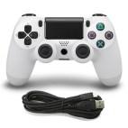 PS4: DoubleShock 4 langallinen ohjain (White)