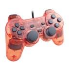 PS2: PS2 Läpinäkyvä Tarvikeohjain (Punainen)