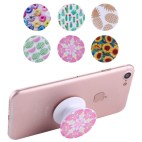 Mobile Phone Holder Stand with Car Bracket & Winder Function (Pink Pattern)