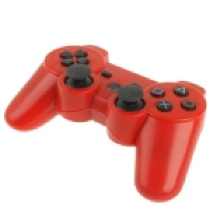 PS3: Bluetooth Wireless Double Shock III Game Controller for Sony PS3, Built-in 600mA Rechargeable Lithium Battery(Red)