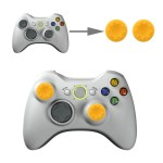 PS4: 2 PCS Silicone Key Protector Thumb Grips Joystick Caps for PS4 & XBOX (Yellow)