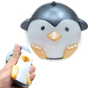 Simulation Penguin Shape Squishy Slow Rising Toy Slow Rebound Pearlescent PU Stress Reliever Squeeze Toy(Grey)