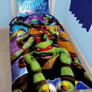 Turtles yhden henkilön lakanasetti