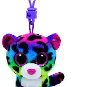 TY Beanie Boos DOTTY - Multicolor leopard clip