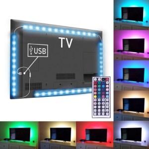 4X USB LED Valaistusjohto kaukosäätimellä
