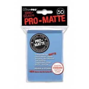 UP - Standard Sleeves - Pro-Matte - Non Glare - Light Blue (50 Sleeves)
