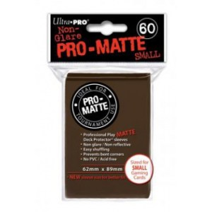UP - Small Sleeves - Pro-Matte - Brown (60 Sleeves)