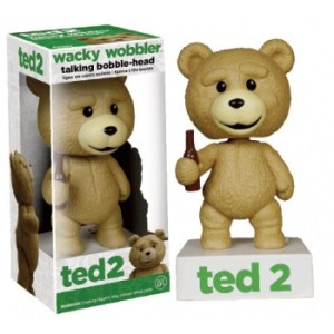 Funko - Ted 2 The Movie - Ted the Teddy Bear Talking Wacky Wobbler Figure 6-inch