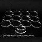 Acrylic Base - Round 30mm (12 Pcs)
