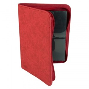 4-Pocket Premium Zip-Album - Red