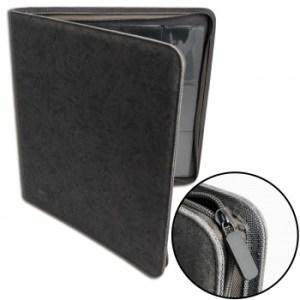 12-Pocket Premium Zip-Album - Black