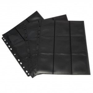 18-Pocket Pages - Black - Side Loading (50 pcs)