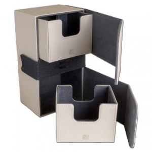 Convertible Premium Deck Box Dual 200+ Standard Size Cards - White