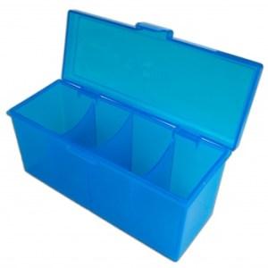 4-Compartment Storage Box - Blue