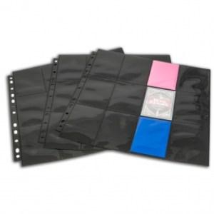 24-Pocket Pages - Black - Top Loading (10 pcs)