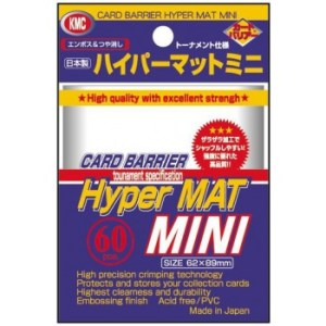 KMC Small Sleeves - Hyper Mat Clear (60 Sleeves)