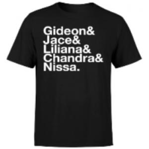 Magic The Gathering Helvetica Names Mens T-Shirt - Black - XXL