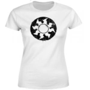 Magic The Gathering White Mana Splatter Womens T-Shirt - White - L