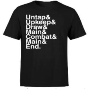 Magic The Gathering Turn Phases Mens T-Shirt - Black - XXL