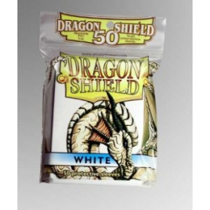 Dragon Shield Standard Sleeves - White (50 Sleeves)