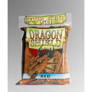 Dragon Shield Standard Sleeves - Red (50 Sleeves)