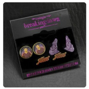Twilight Breaking Dawn Earrings 3 Pack Team Jacob with Wolves