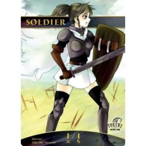 Tokens for MTG - Soldier (ver.1) Token (10 pcs)