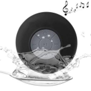 Waterproof Shower BTS-06 Mini Bluetooth Speaker (Black)