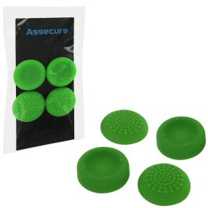 PS4: PS4 Silicone Thumb Grips: Concave & Convex - Green (Assecure)