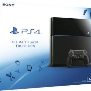PS4: Playstation 4 konsoli 1TB - Black (UK)