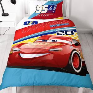 Cars 3 Lightning Yhden henkilön pussilakanasetti - Pawsome