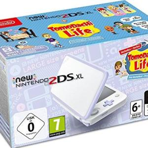3DS: NEW Nintendo 2DS XL konsoli - White & Lavender with Tomodachi Life Pre-installed (EU)