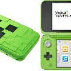3DS: NEW Nintendo 2DS XL konsoli - Creeper Edition with Minecraft Pre-installed (EU)