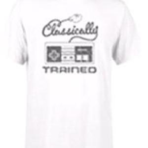 Nintendo Retro NES Classically Trained Mens White T-Shirt (MEDIUM)