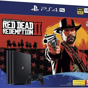 PS4: Playstation 4 PRO konsoli - 1TB (Red Dead Redemption 2) (UK)