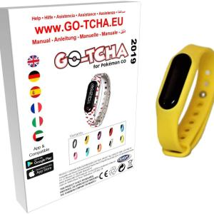 GO-TCHA Coloured Wristband for Pokemon Go (Pikachu Yellow) /Accessories