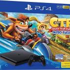 PS4: Playstation 4 konsoli 500GB (BUNDLE) with Crash Team Racing: Nitro Fueled  (UK)