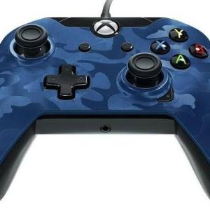 Xbox One: PDP Deluxe Wired Ohjain – Blue Camouflage
