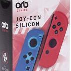 Switch: Joycon Silicon Ohjain Grips - Blue (Oranssi) (ORB)