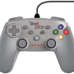 Switch: Steelplay - Wired Ohjain Classic SN Grey