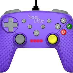 Switch: Steelplay - Wired Ohjain GCube Purple