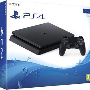 PS4: Playstation 4 Slim konsoli 1TB (UK)(Vaurioitut pakkaus)