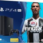 PS4: Playstation 4 Pro konsoli Slim 1TB + Fifa 19 (UK)(Damaged Packaging/Open/No Game/No DLC)