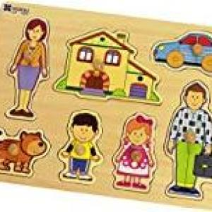 Andreu Toys 30 x 22.5 x 1 cm 8 Model Family Puzzle (Multi-Colour)