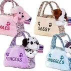 Pehmolelu Dog Interactive Bag in 4 Assorted Colours Princess