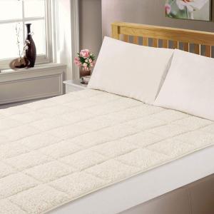 Dreamscene Luxury Mattress Topper Super Soft Bed Protector King - Cream