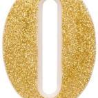 Givi Italia  Selezione Vertecchi Candle Pie Number Glitter 9.5cm Gold 0