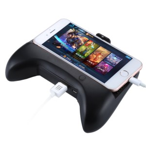 Mobiili: CCF-013 Multi-function 3 in 1 Phone Gamepad Holder Handle with Charging / Radiating, For iPhone, Galaxy, Huawei, Xiaomi, LG, HTC, Sony, Google and other Smartphones(Black)