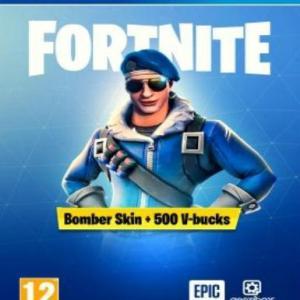PS4: Fortnite: Battle Royale - Royale Bomber Pack + 500 V- BUCKS () (latauskoodi)